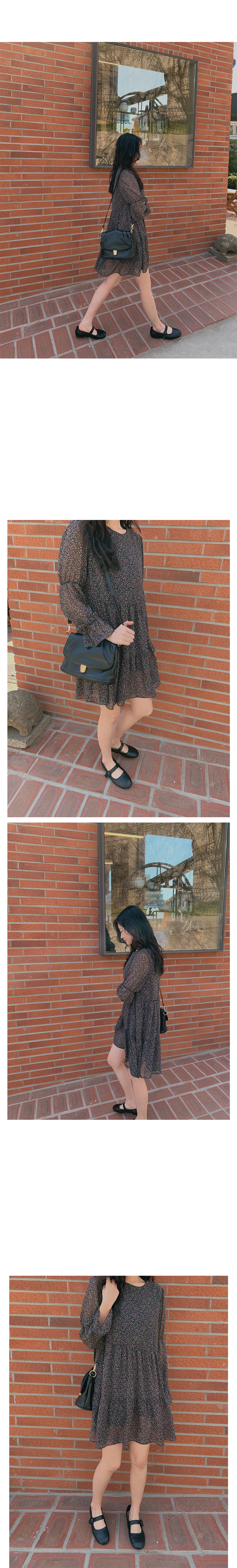 Square Shirring Leather Bag