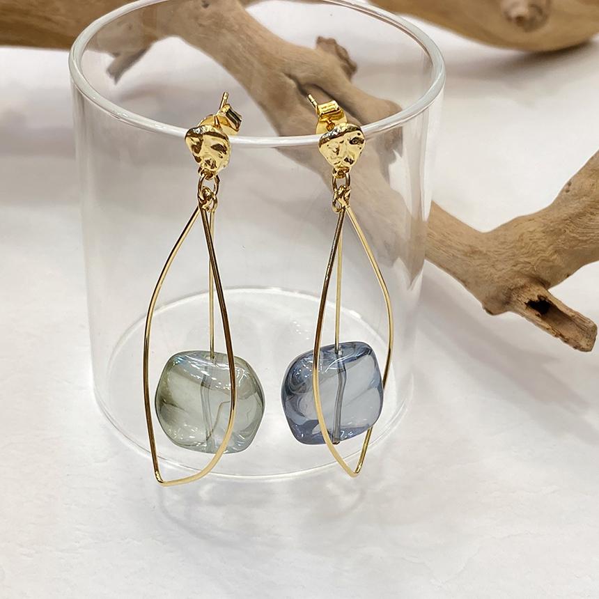 Noi Clear Shine Gold Titanium Earrings