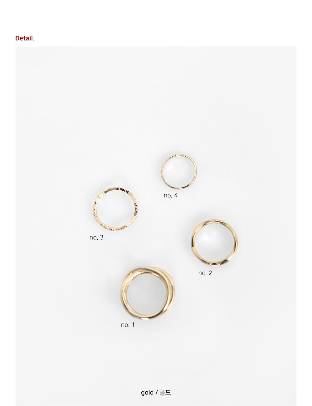 Simple twist set ring