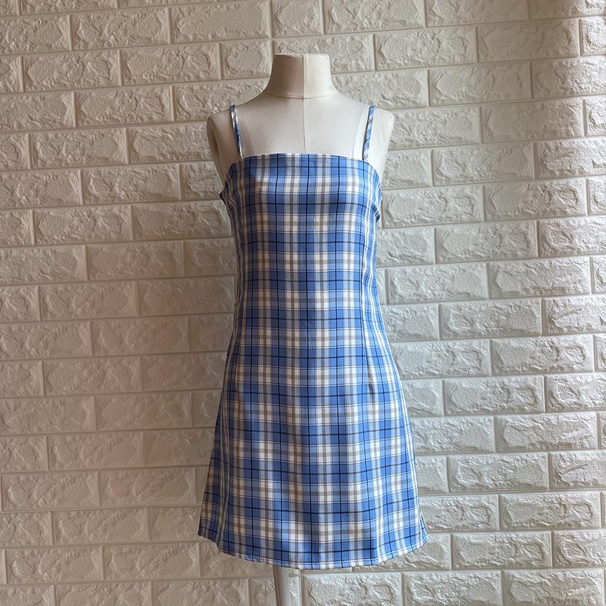 Heylin Check Sleeveless Mini Dress 3colors