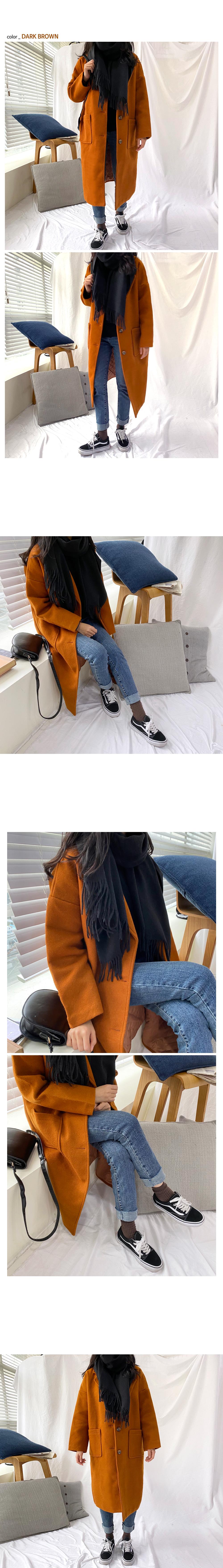 Basic pocket long coat O#YW118