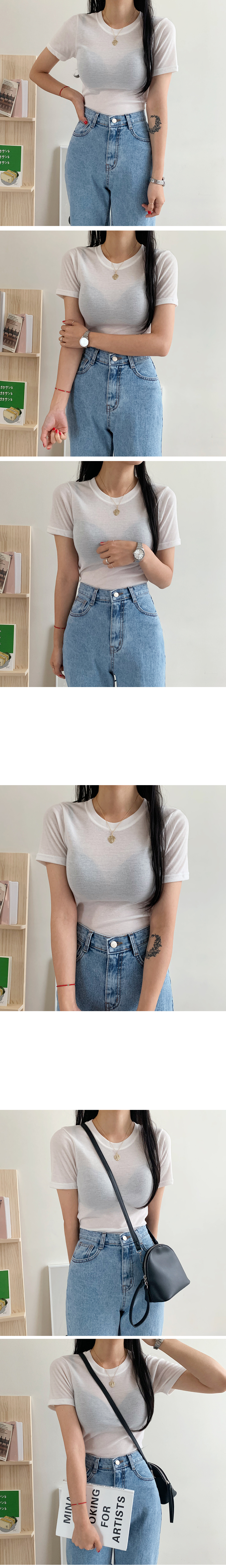 Coco Color Round Short Sleeve Tee