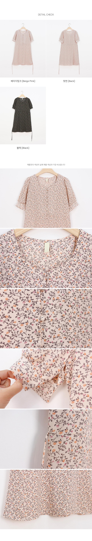 Muse Bean Button Flower Mini Dress