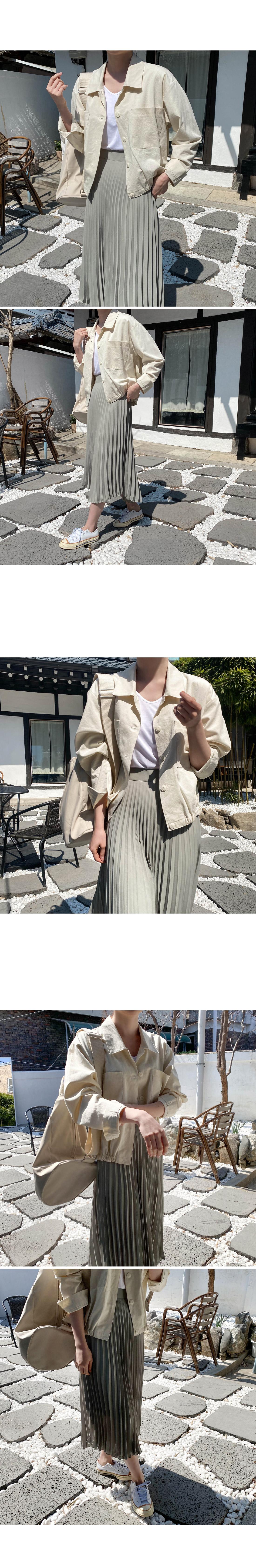 Window Banding Cotton Short Jacket-Navy Same Day Shipping