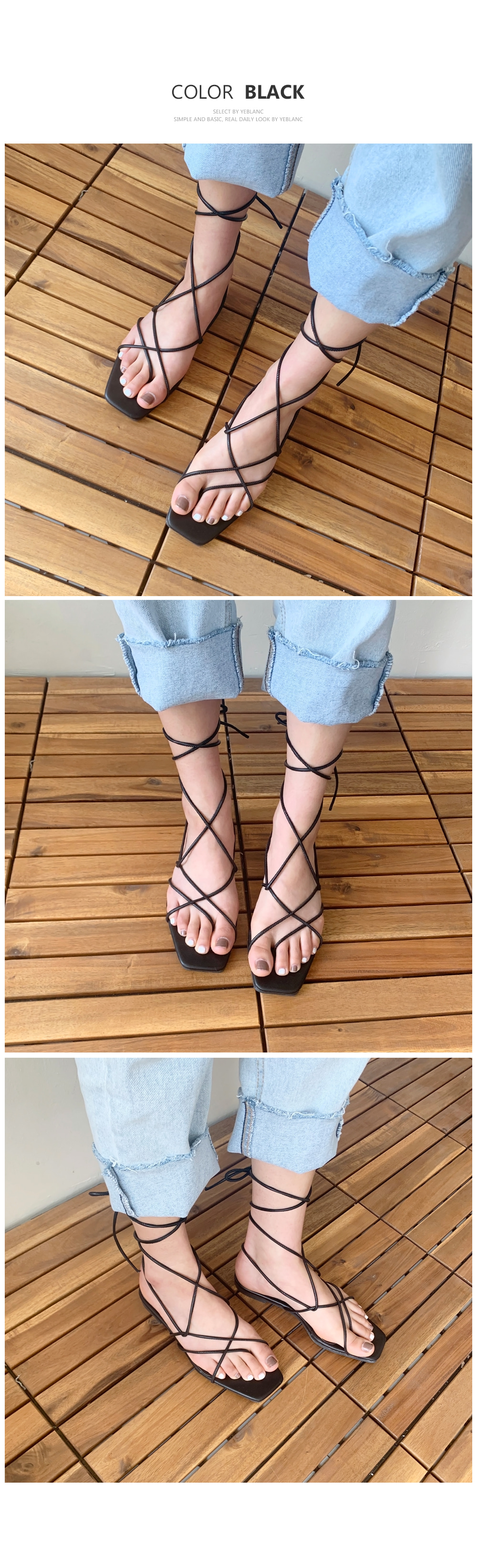 Ribbon strap sandals S#YW306