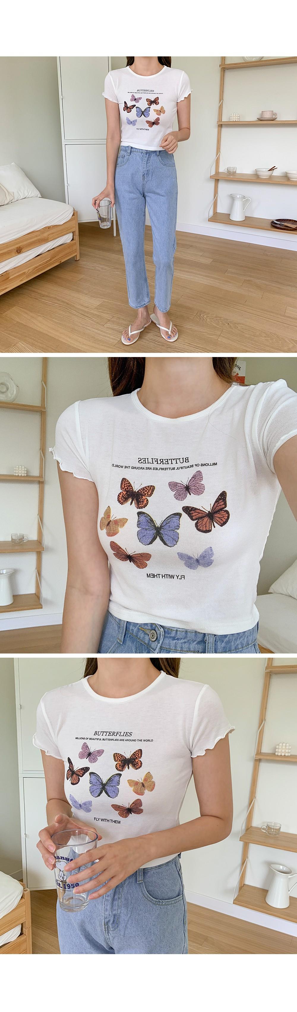 ★Normal trend★Butterfly crop T