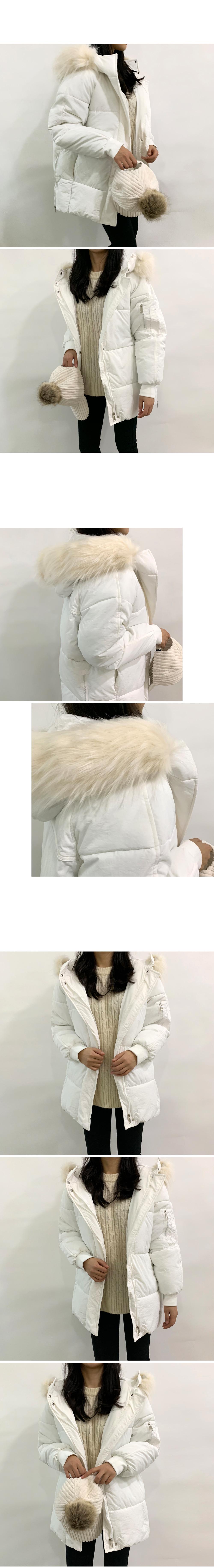 Daily hood fur half padding O#YW113