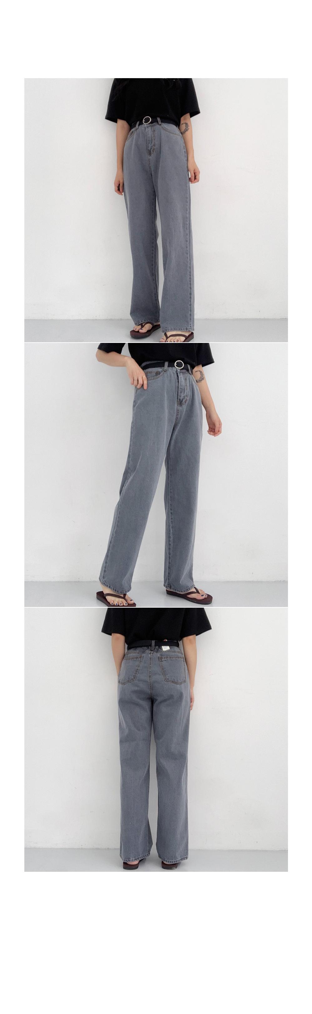 Black Gray Denim Pants