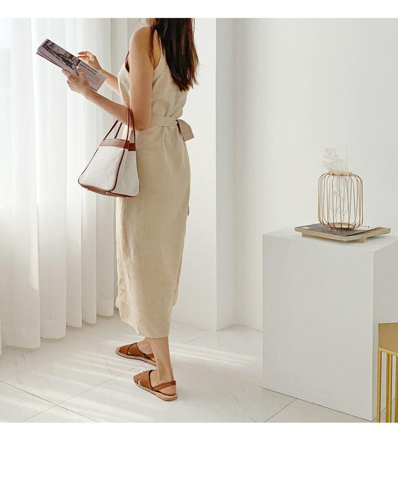 Natural glam linen dress
