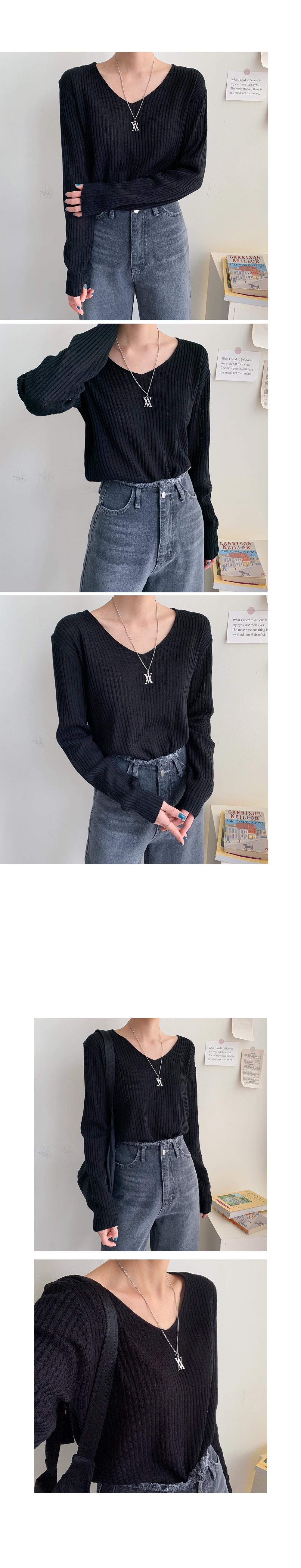 Very V-Neck Knit