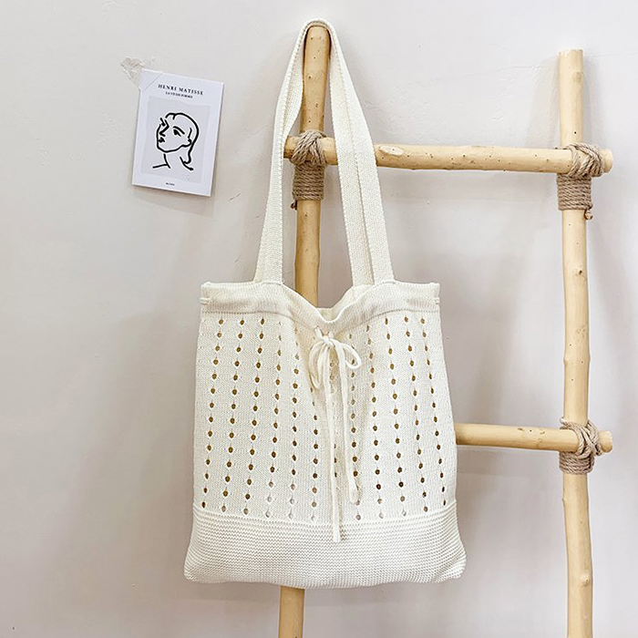 Urban Bros Punching Knit Tote Bag 3colors