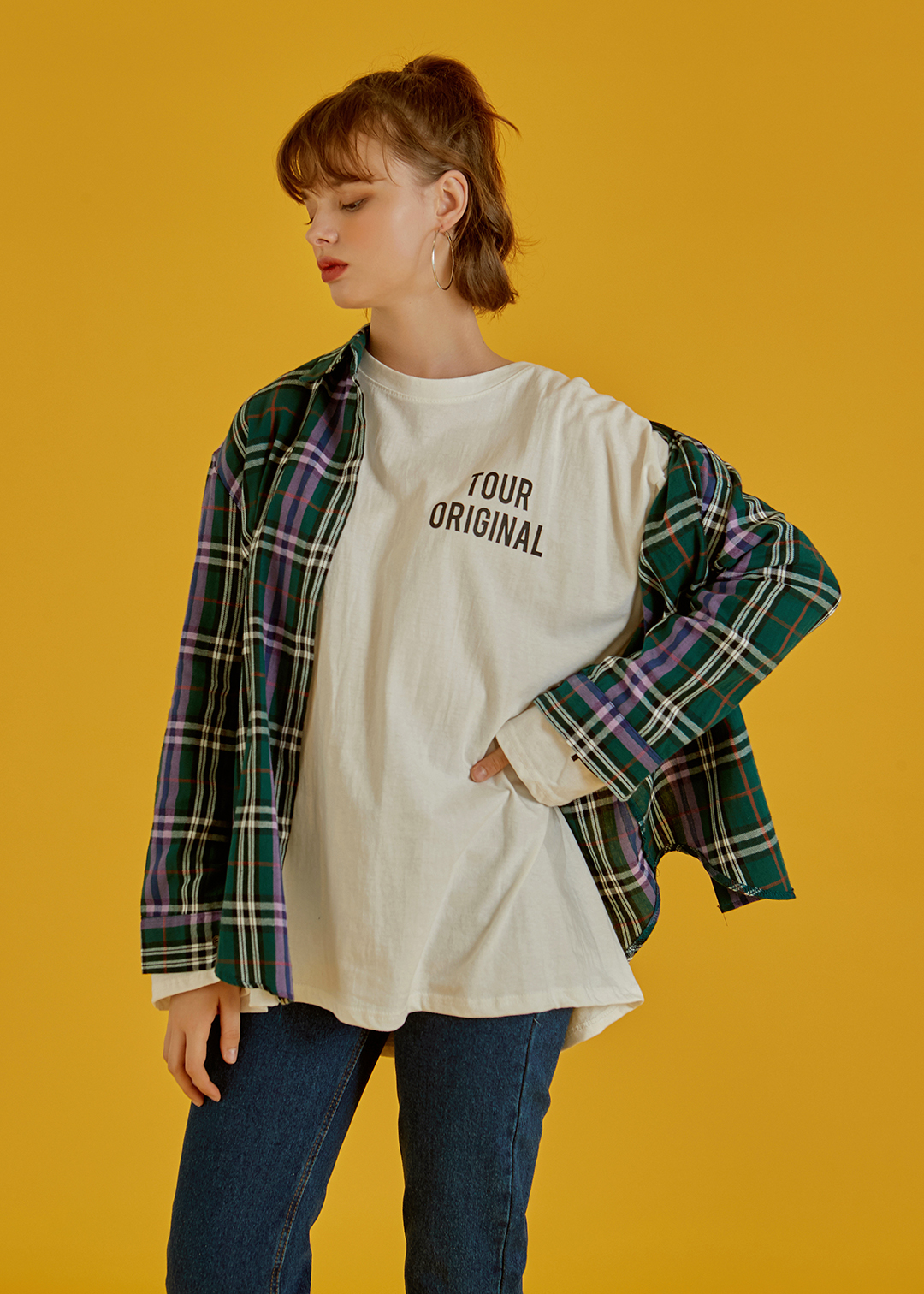 Loose Fit Lettering Print T-Shirt