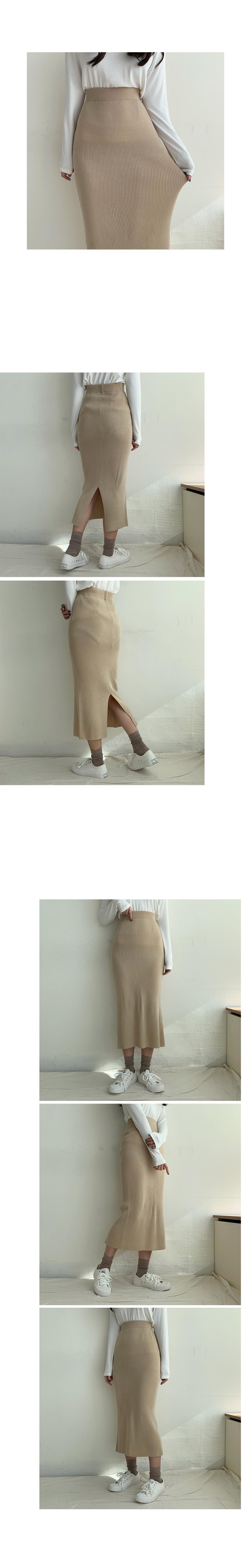Ribbed jjonjjon Knitwear Long Skirt