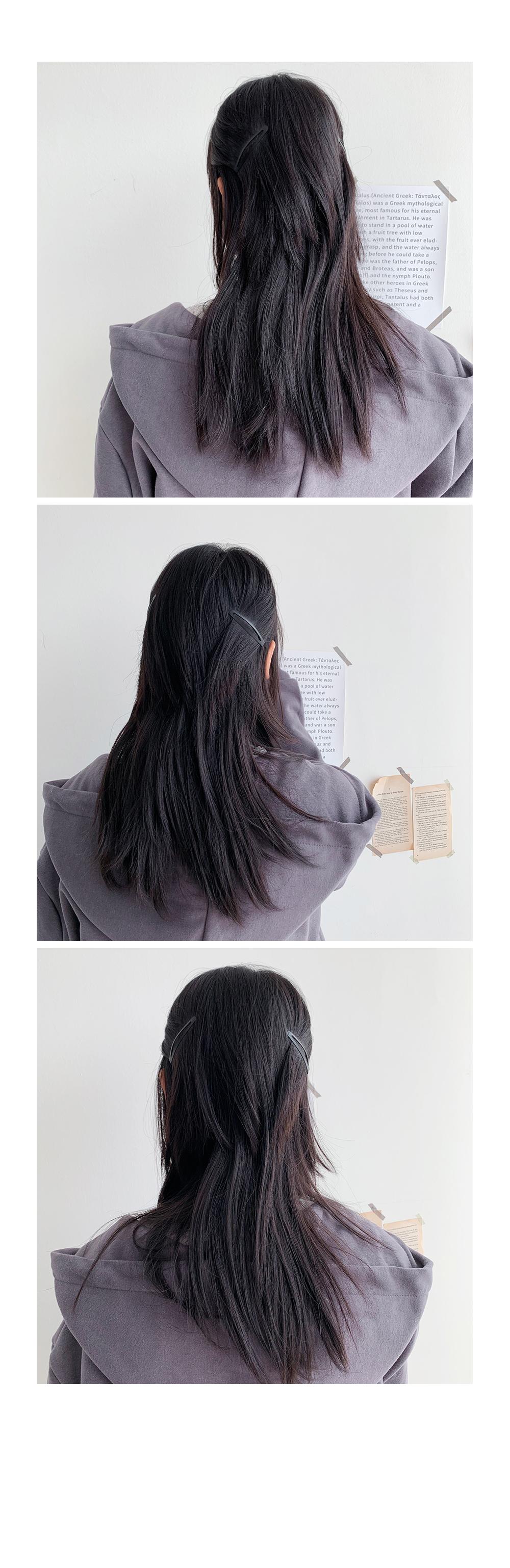 Black hair tick pin SET