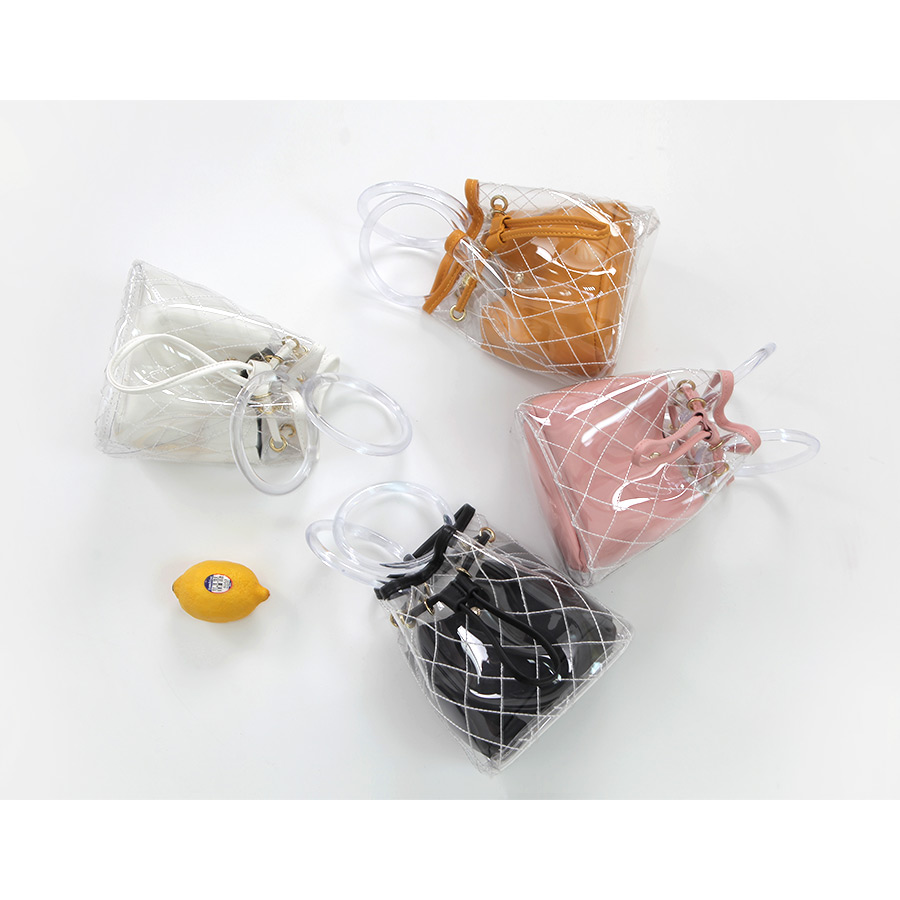 Clear ring color PVC bag