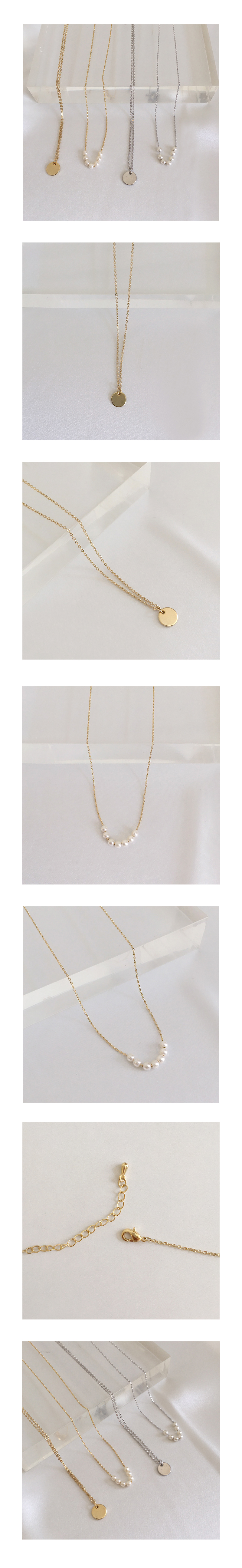 tiny pearl necklace set