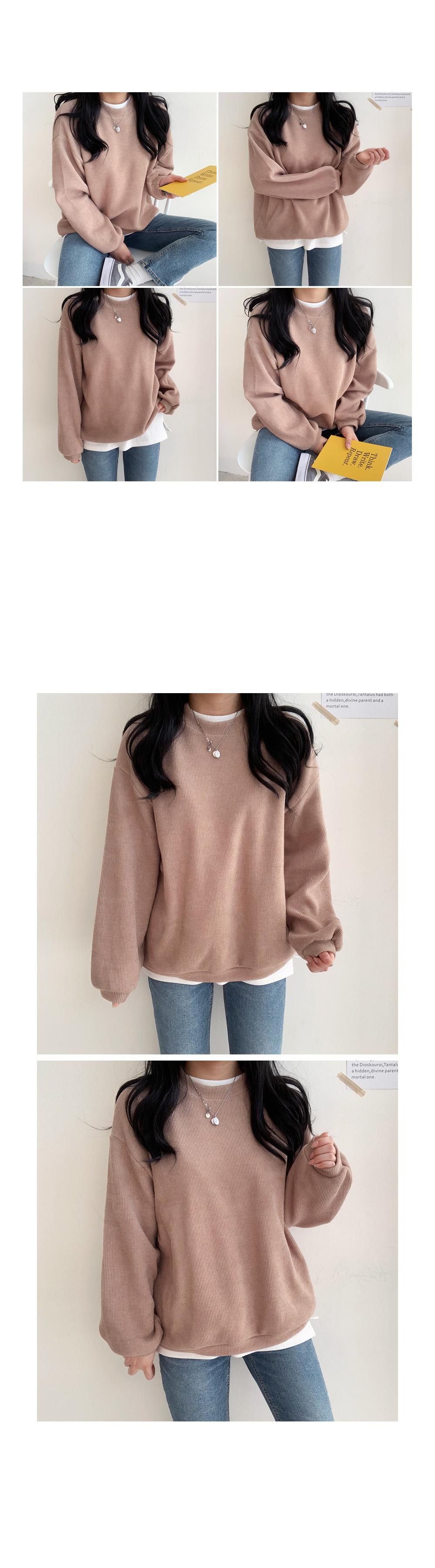 Candy Ribbed Sweatshirt