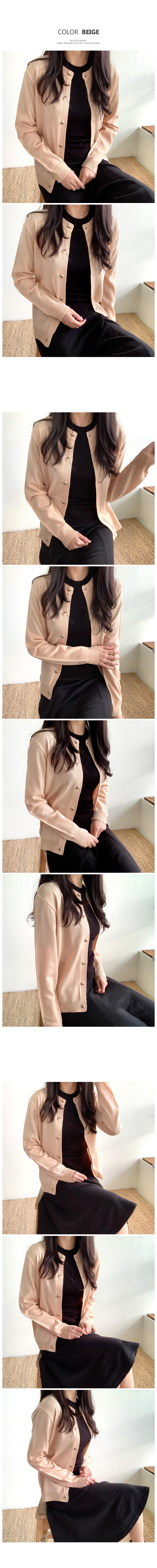 Simple button cardigan T#YW547