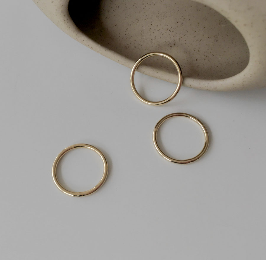 Daily Simple Silver Gold Thread Ring