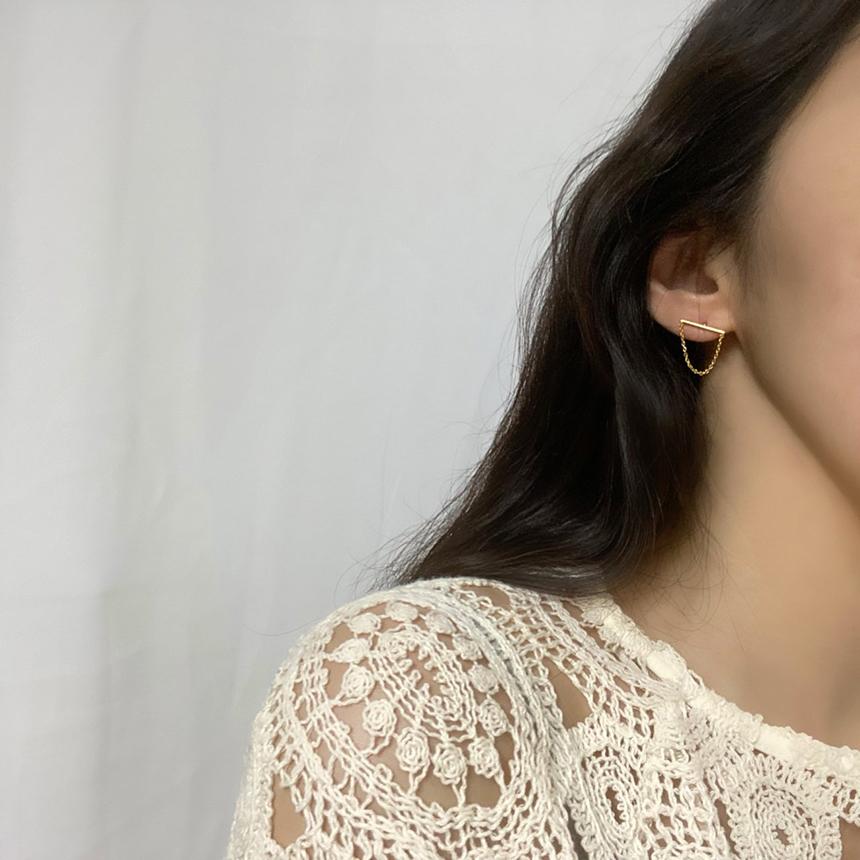 Neuenova chain nickel-nickel earrings