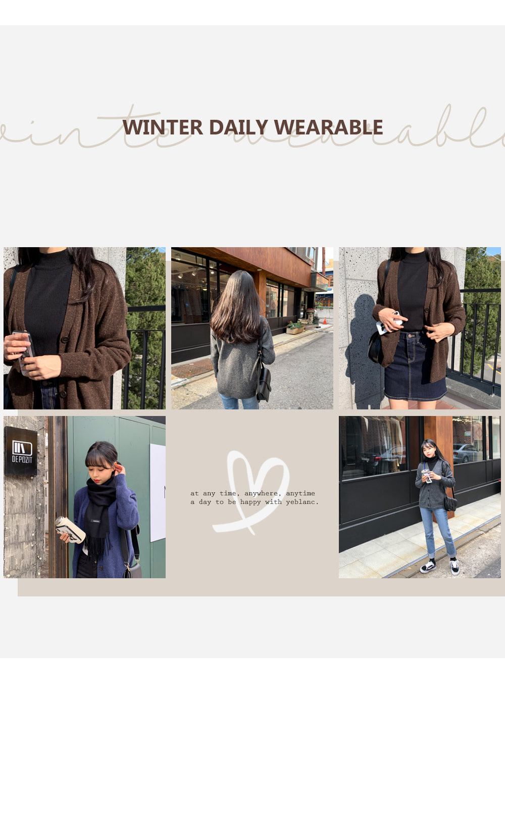 Point mini-dot V-neck cardigan T#YW432