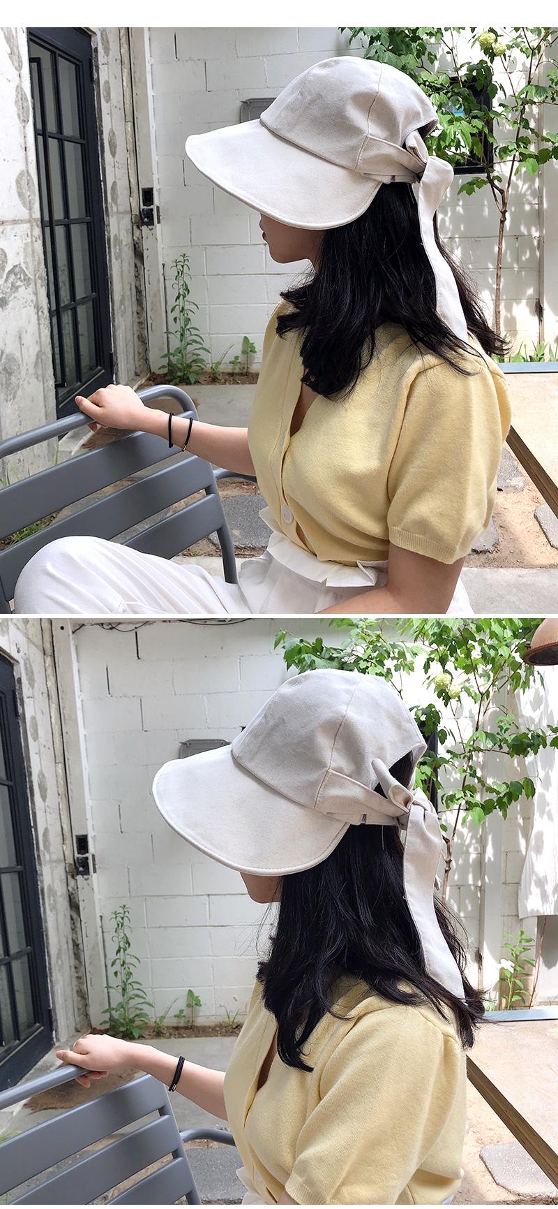 Cotton back ribbon hat H#YW004