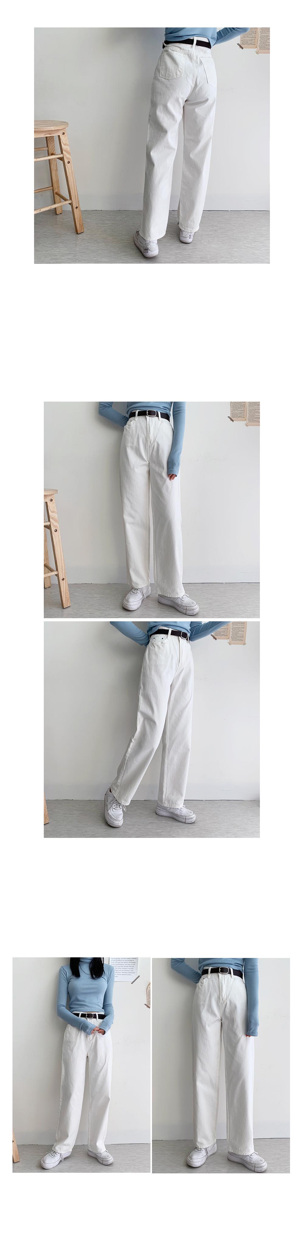 Fine cotton wide pants