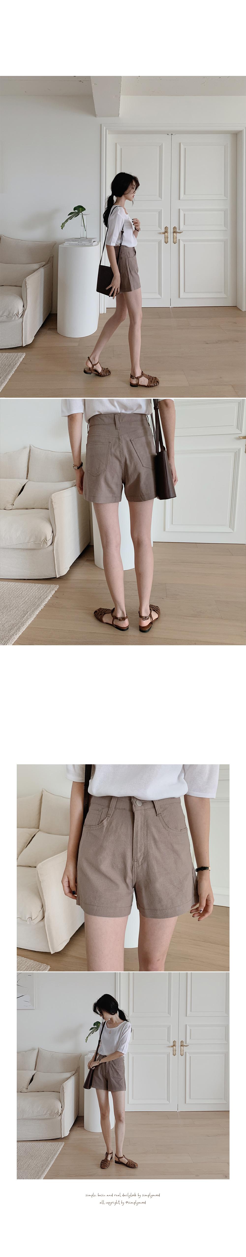 Rikers Linen Half Pants