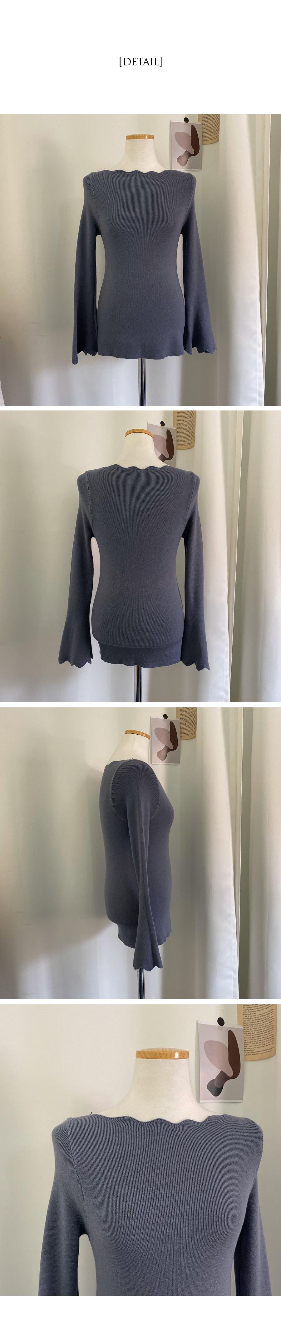 Sleeve wide wave knit