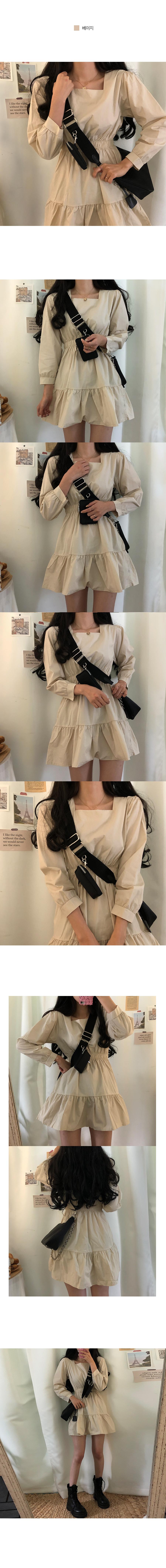 Dahlia Square Neck Cancan Mini Dress
