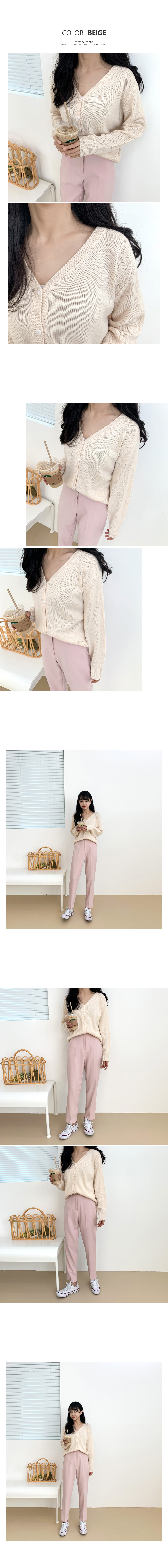 Knit V-neck cardigan T#YW537
