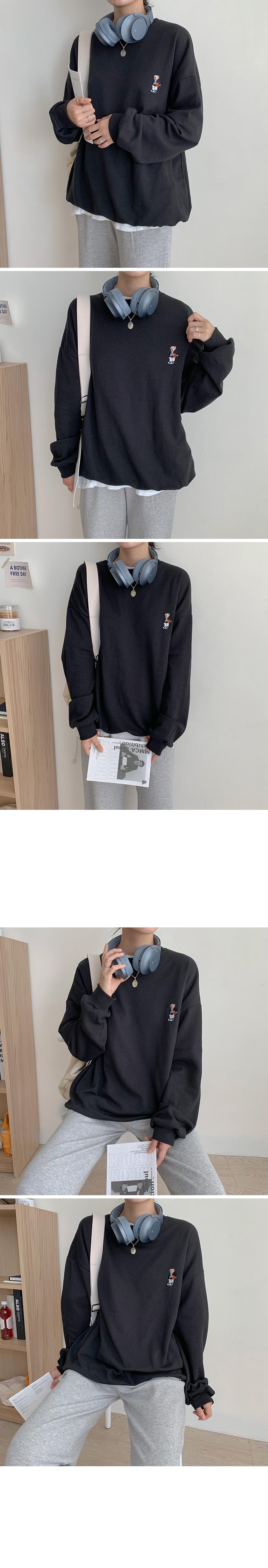 Basketball Teddy Embroidery Sweatshirt
