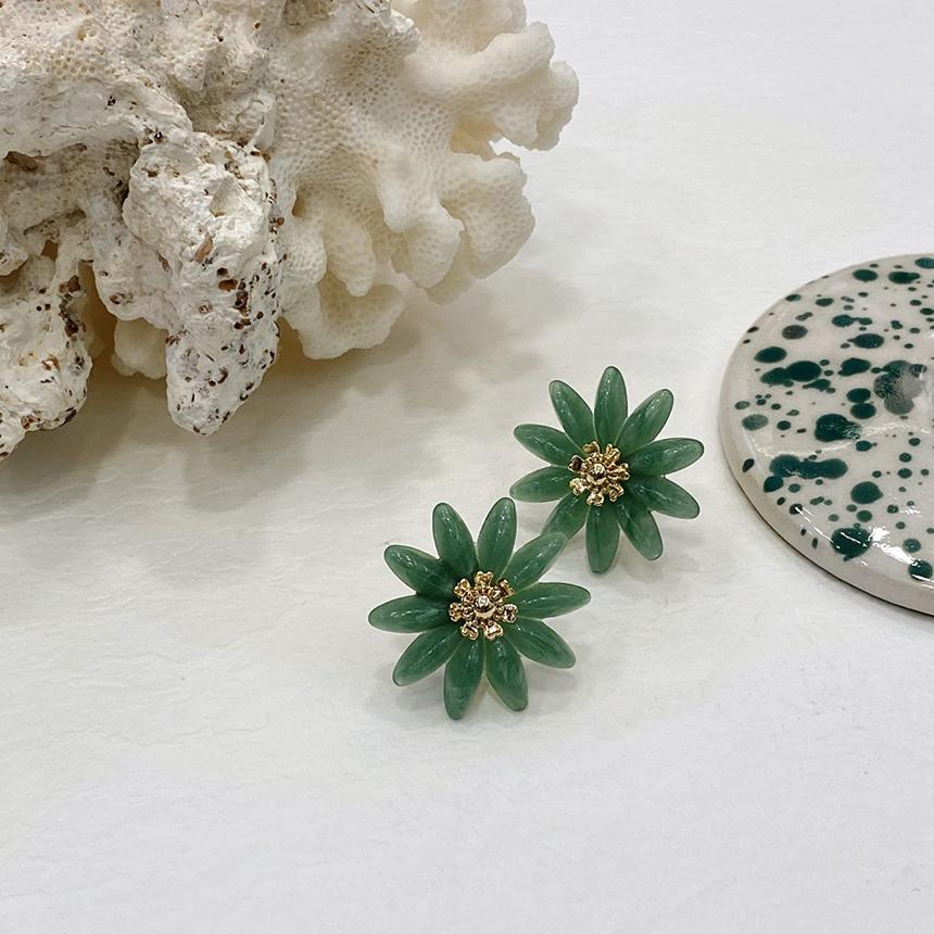 Noi Anna Flower Nickel Needle Earrings