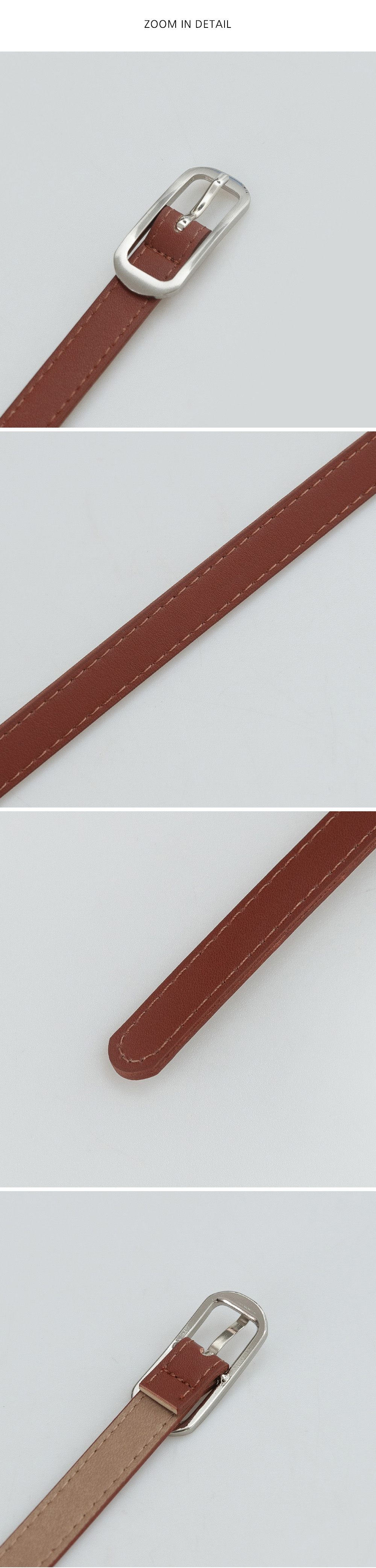 Wearable slim leather belt