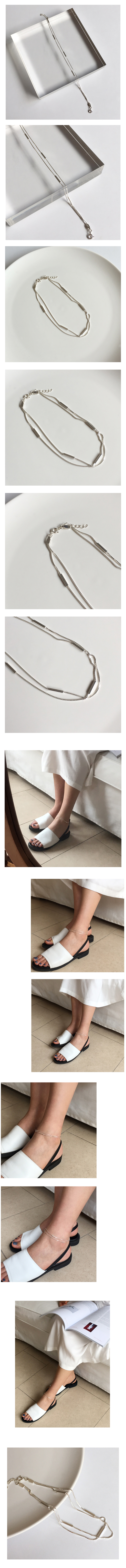 two square anklet