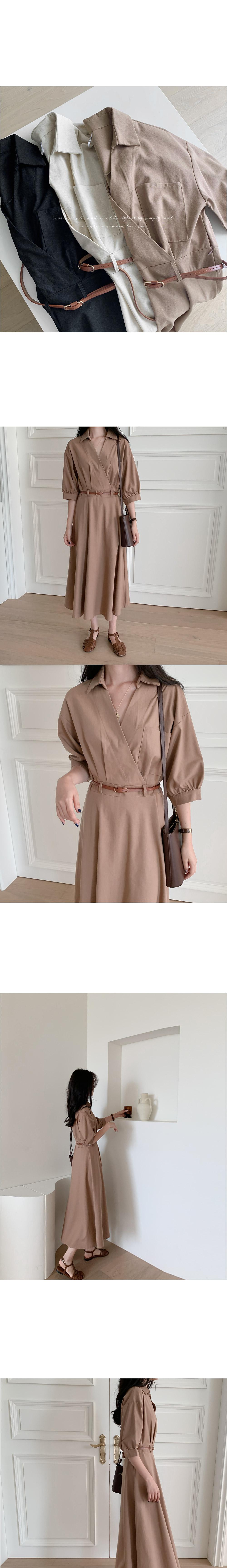 NJ Linen Long Cara Dress