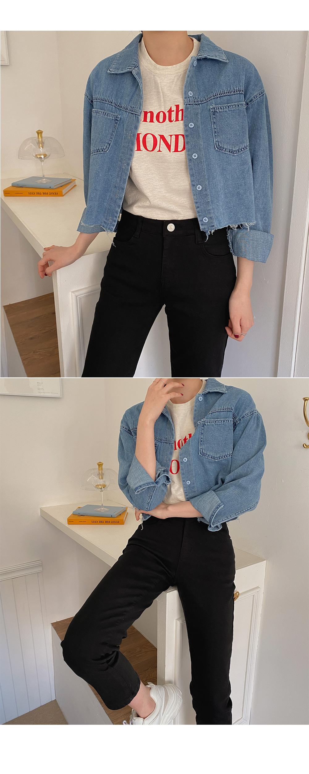Vintage cut denim shirt