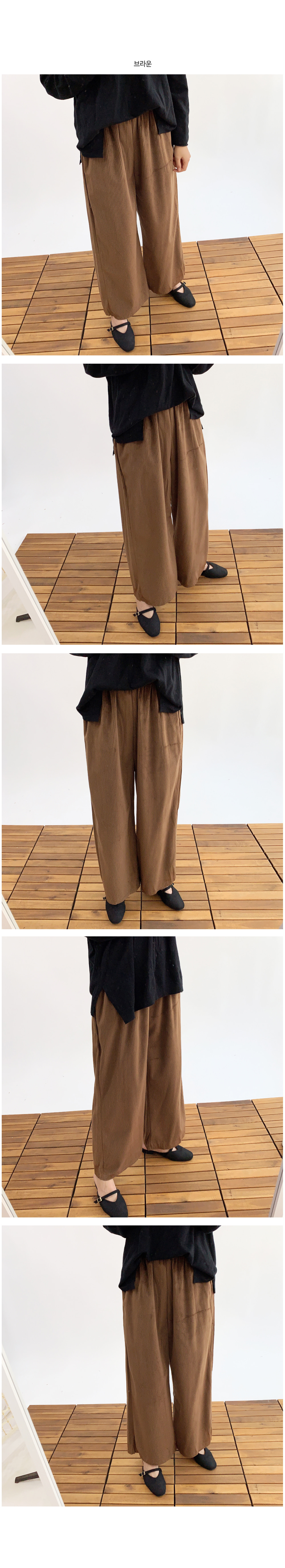 Corduroy goldden wide pants P#YW340
