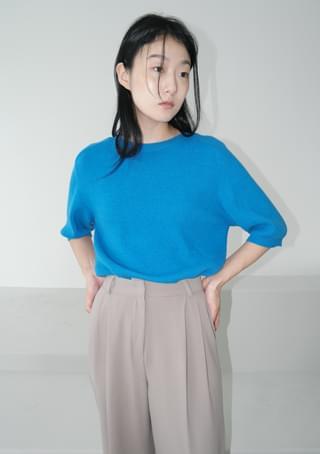 raglan wool mixed top 半袖
