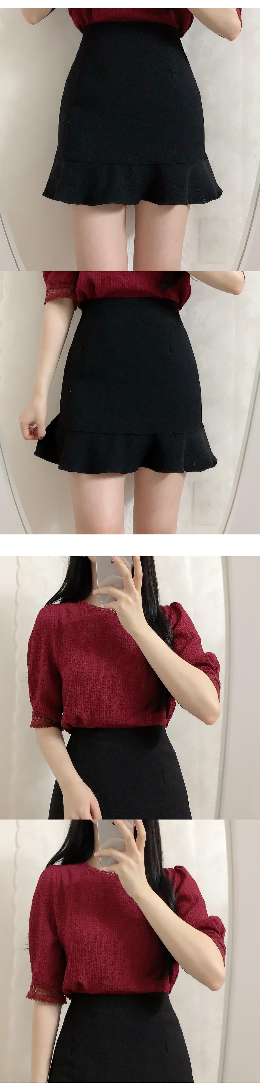 Girls ruffle mini skirt