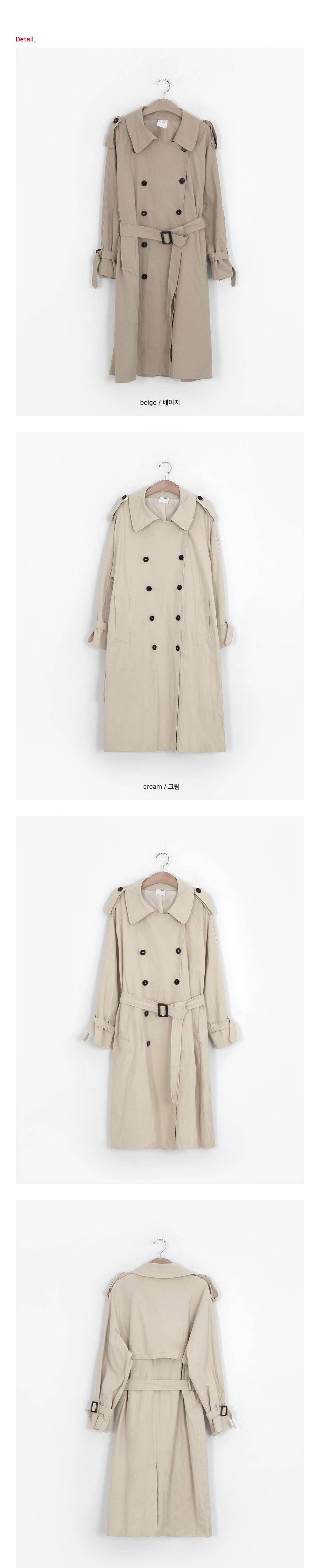 Mocha Cream Double Trench Coat