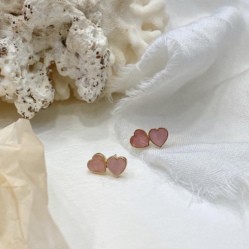 Noi Twin Heart Titanium Earrings