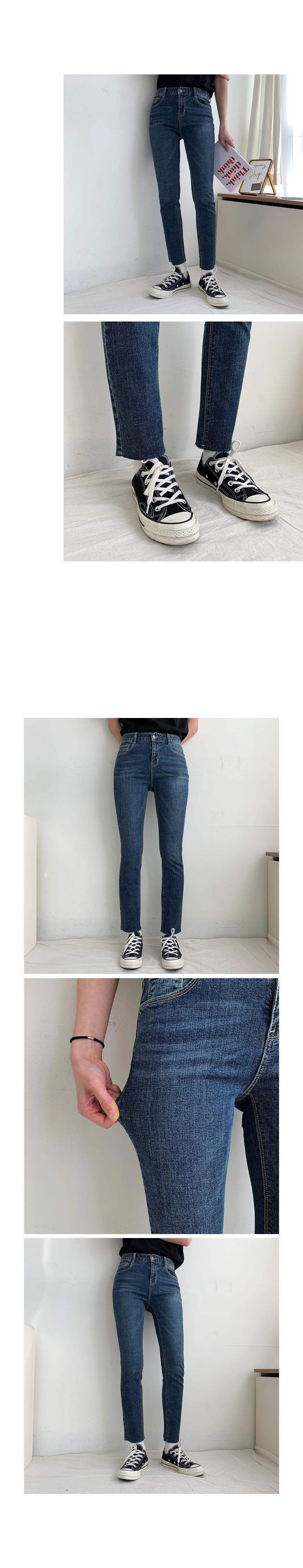 Momo Faded Straight Denim Pants