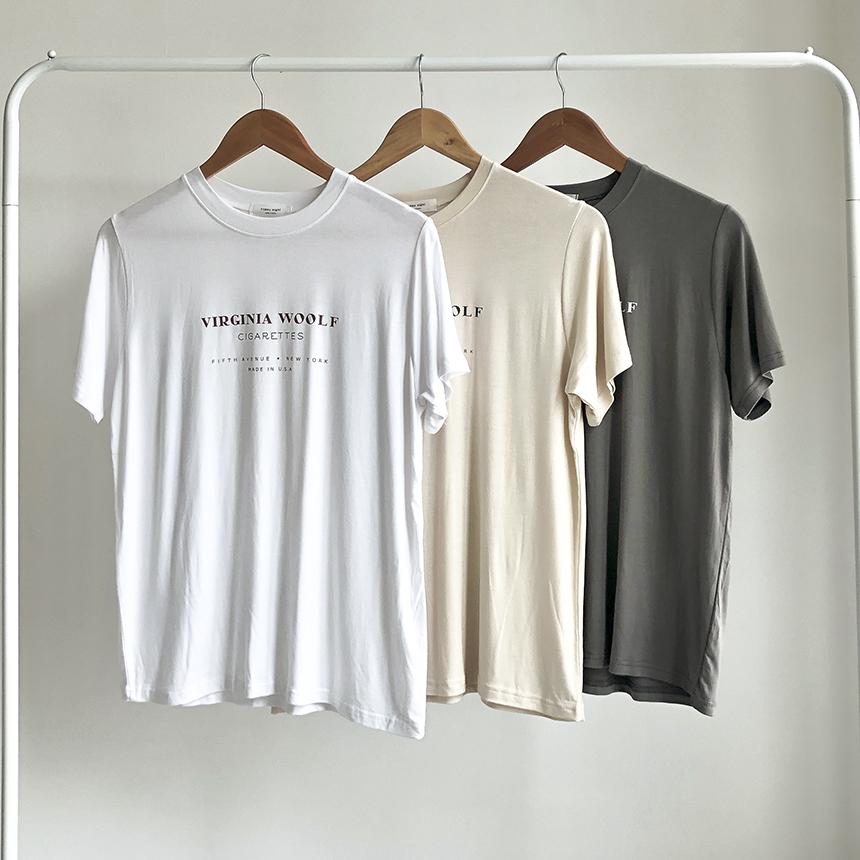 Freejay Wolf Tencel Short Sleeve T-Shirt 4colors