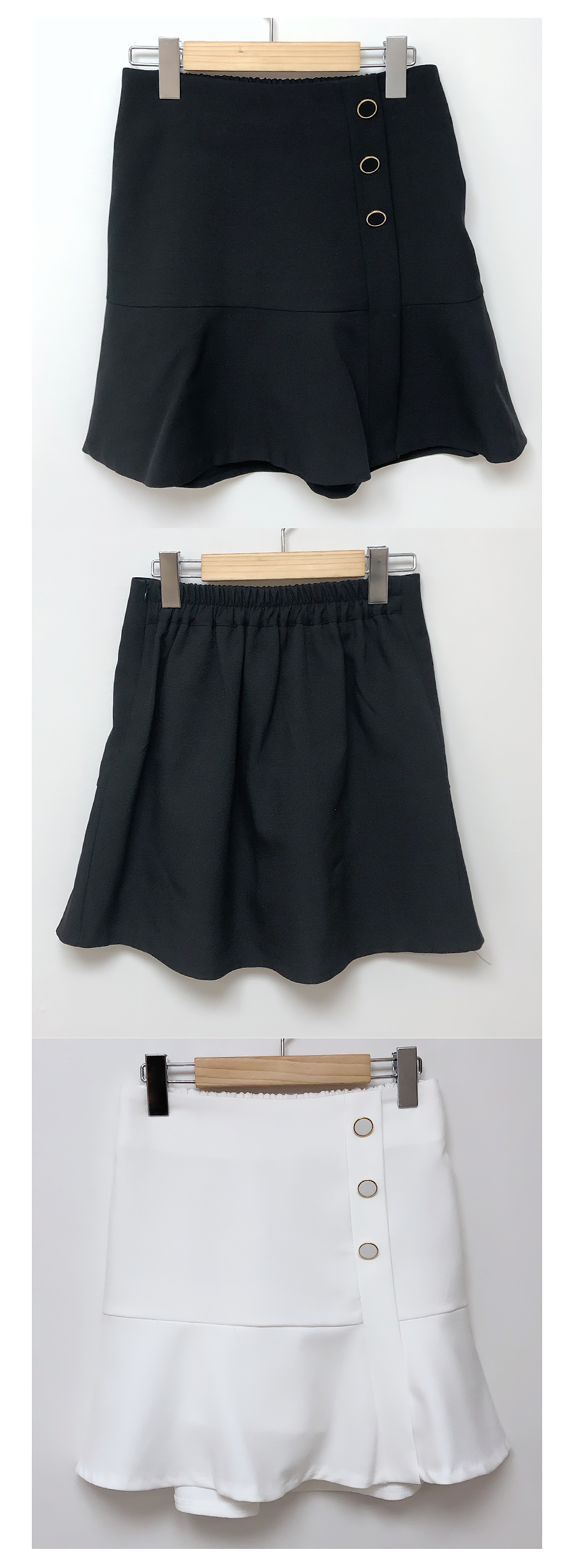 Spring button skirt pants