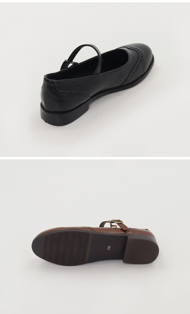 Vintage Wingtip Mary Jane Flat Shoes
