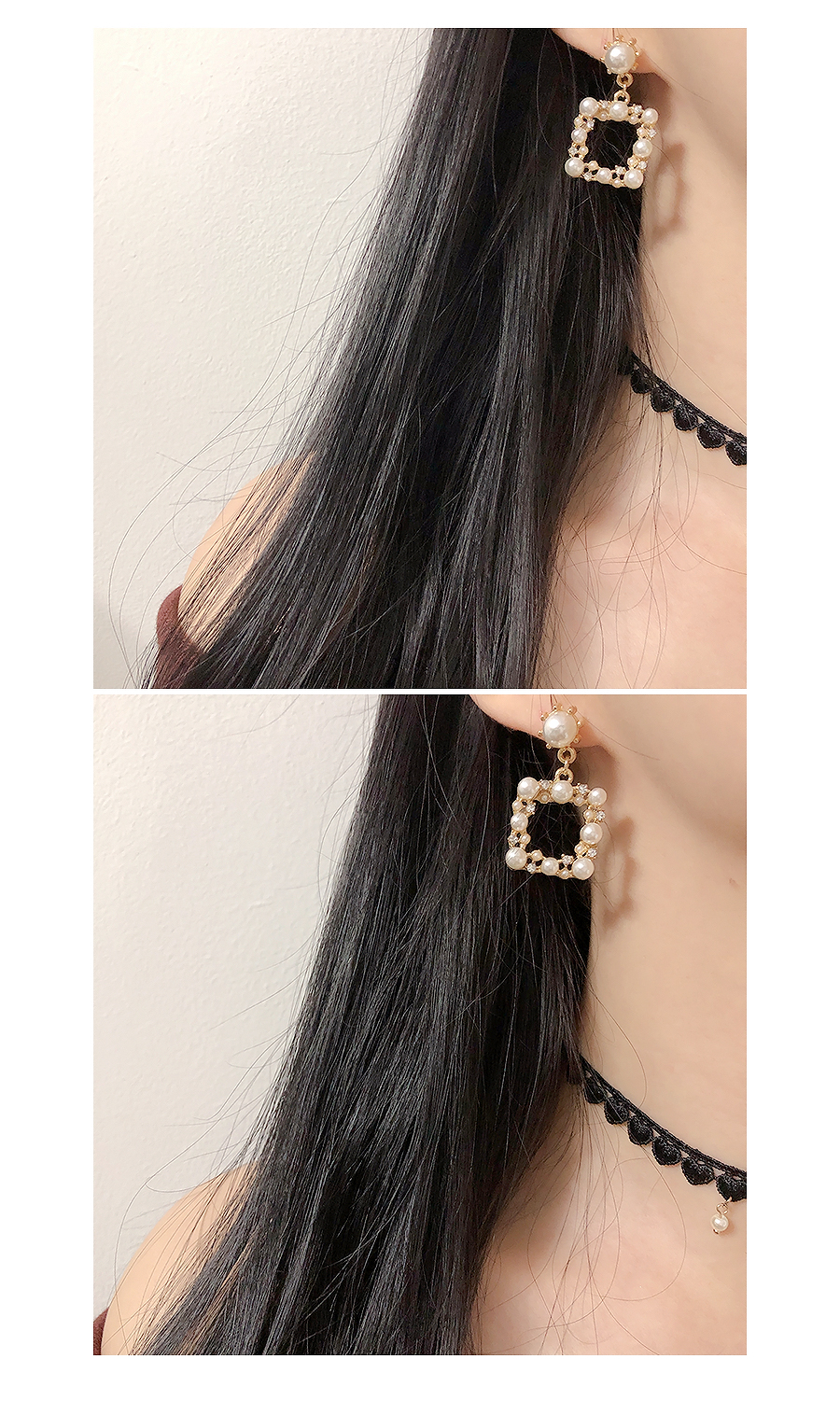 Square Pearl Bold Earrings