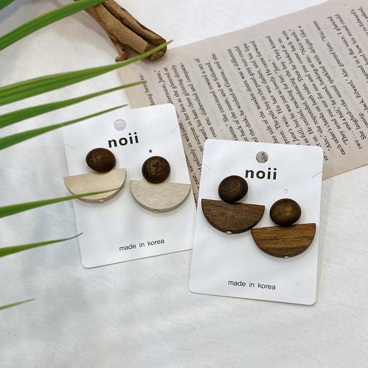 Noi Van Gogh Wood Nickel Spit Earrings