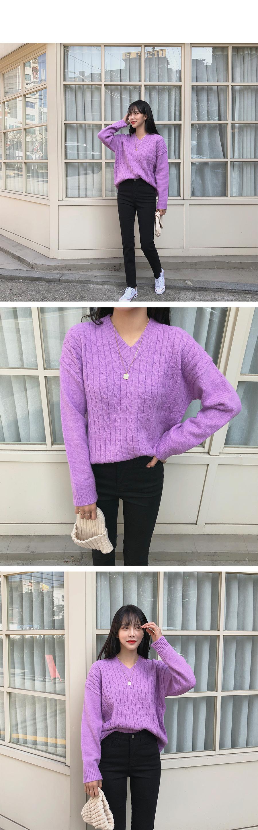 Vinneck V-neck knit