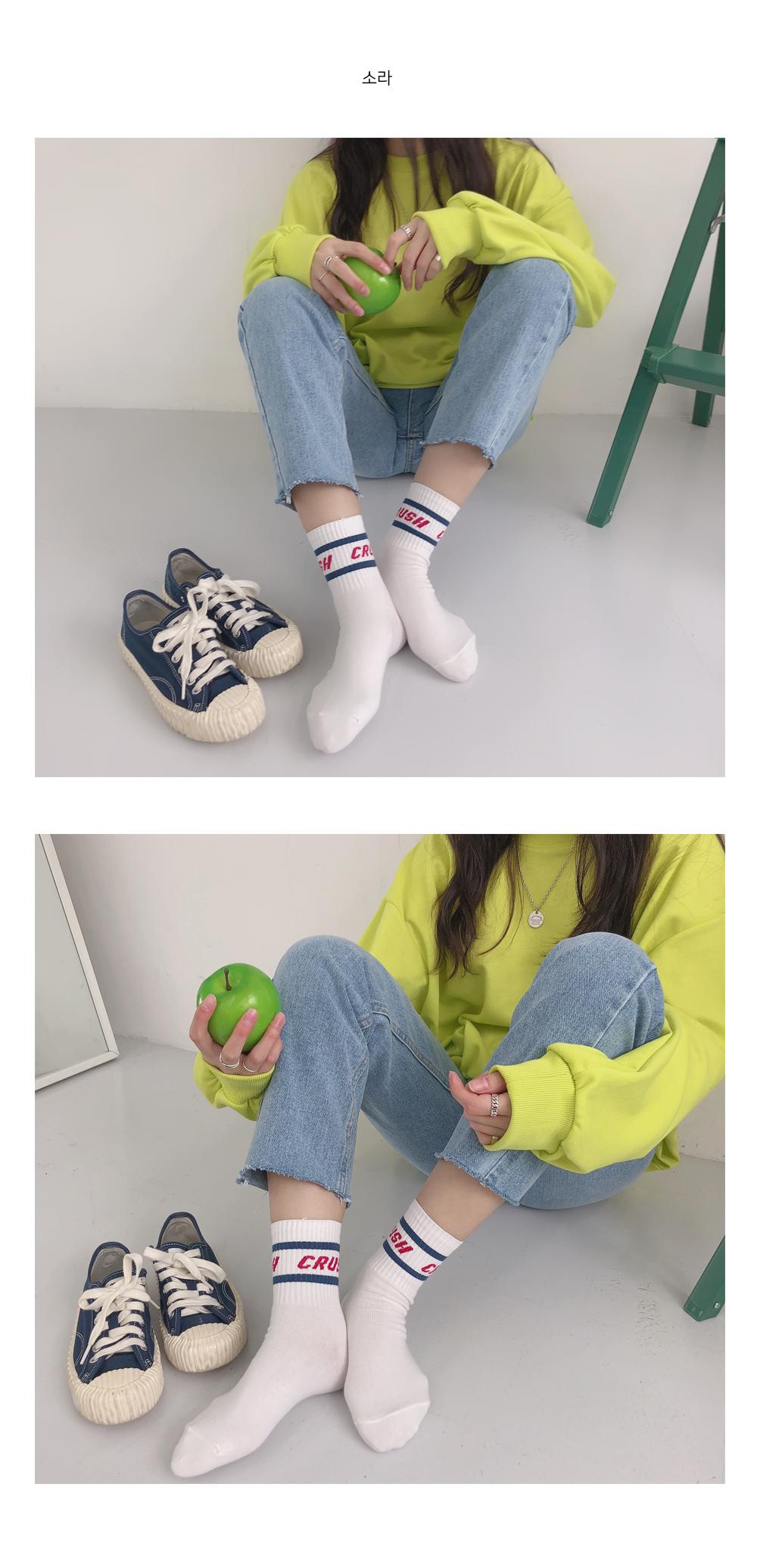 Fine line socks